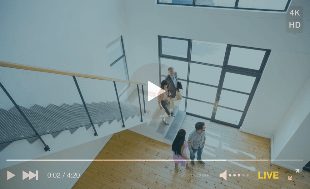 screenshot of live video of estate agent house tour