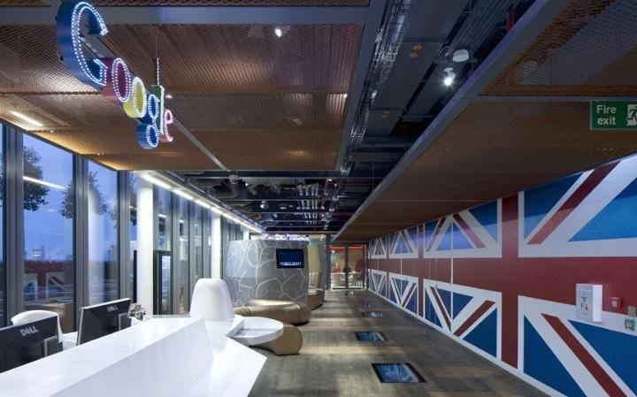 lounge area in google hq in london